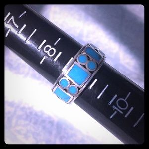 22 Turquise piece Navajo ring Sterling Silver 925